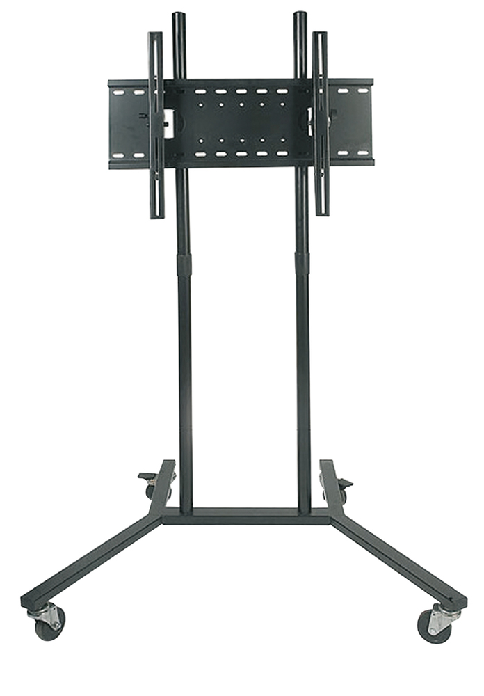 soundlab black trolley with universal flat screen tv bracket getinthemix. Black Bedroom Furniture Sets. Home Design Ideas