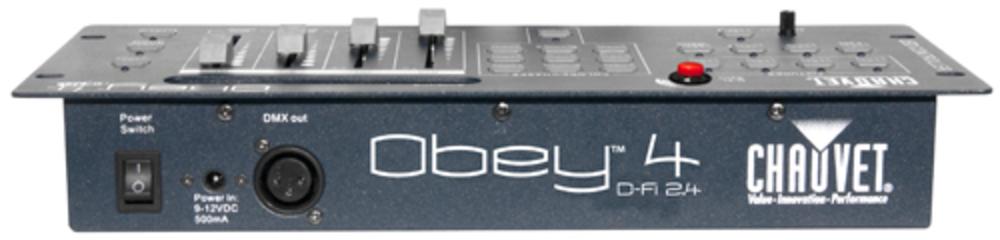 chauvet obey 4 d fi 2 4 lighting controller getinthemix. Black Bedroom Furniture Sets. Home Design Ideas