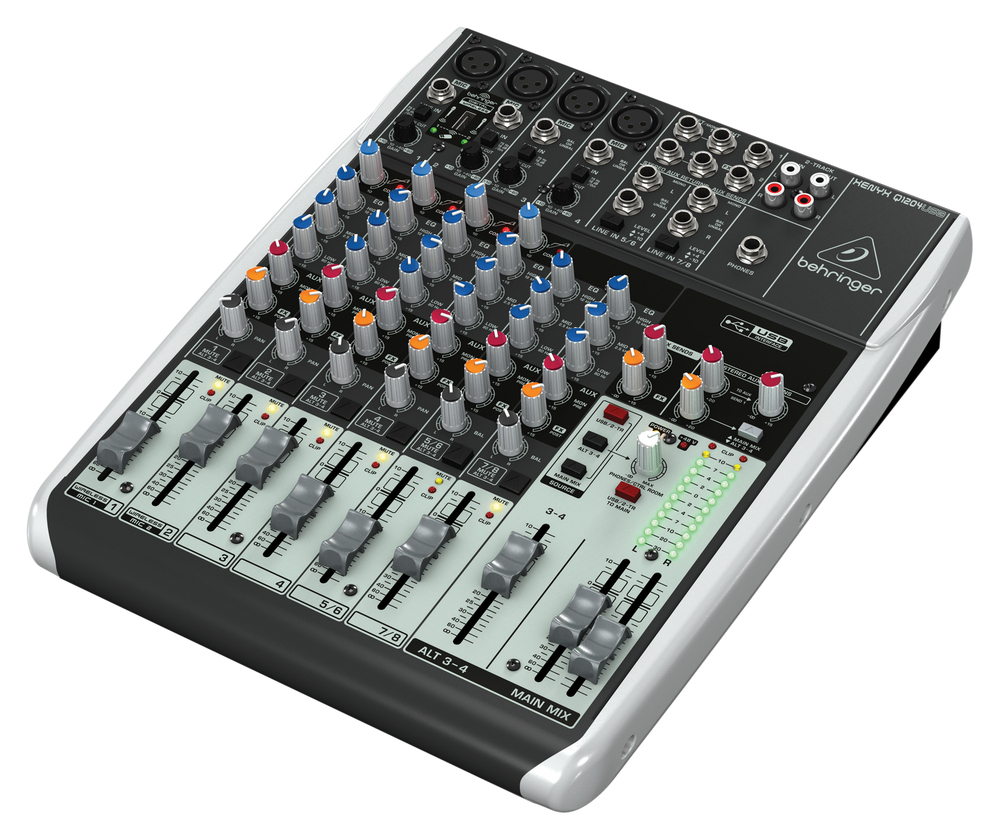 behringer q1204usb 6 channel mixer