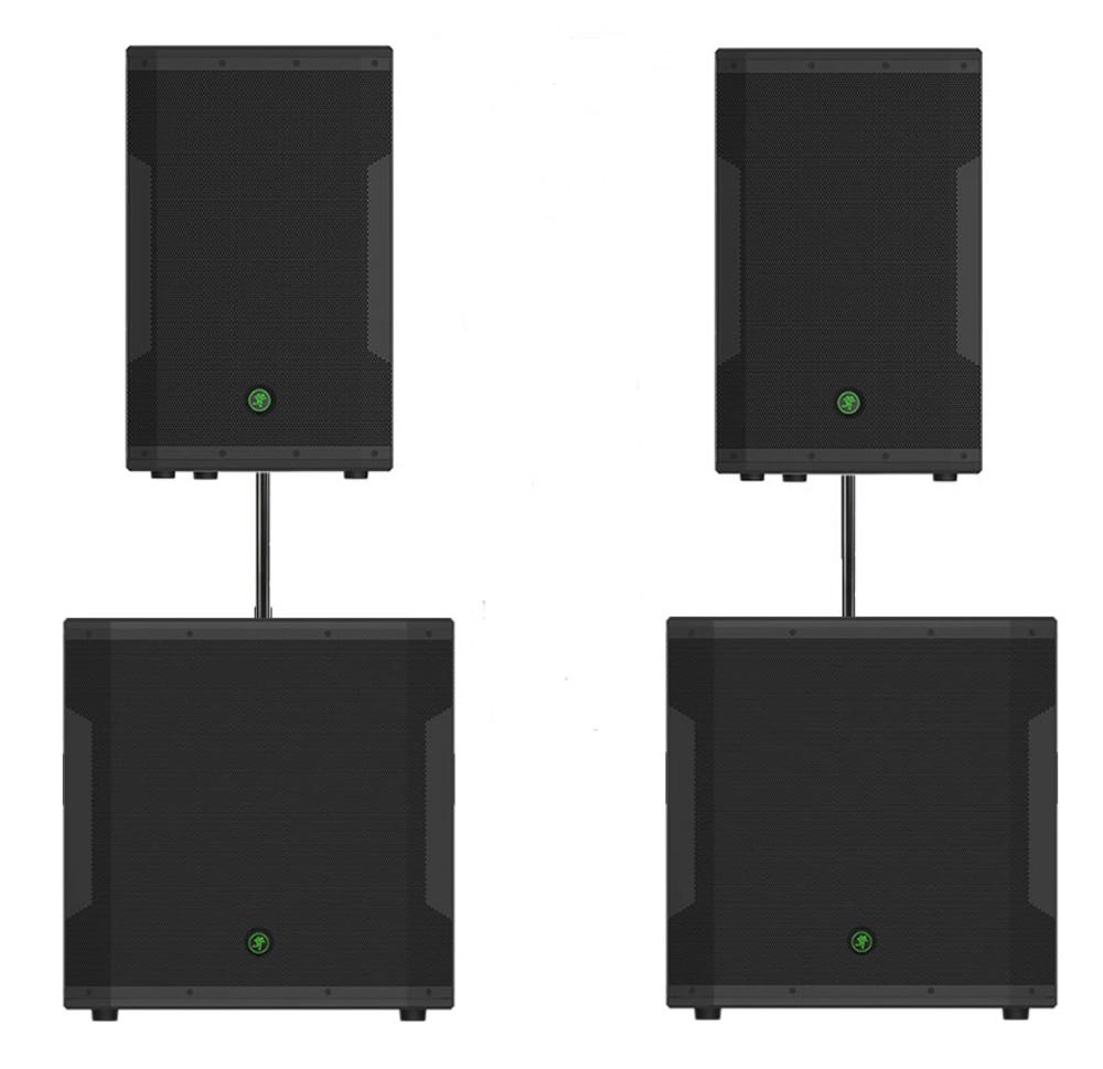 mackie srm550 speakers srm1850 subs sound system getinthemix. Black Bedroom Furniture Sets. Home Design Ideas