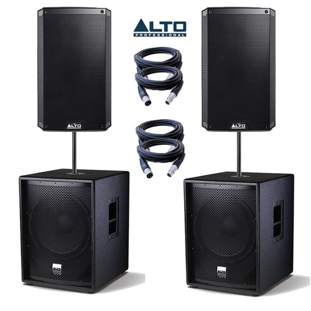 Alto TS2155 Speakers & TSSUB18 Subs PA Package ...