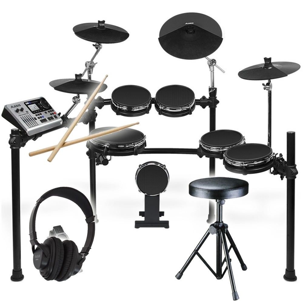 alesis dm10 mesh kit with headphones and stool. Black Bedroom Furniture Sets. Home Design Ideas
