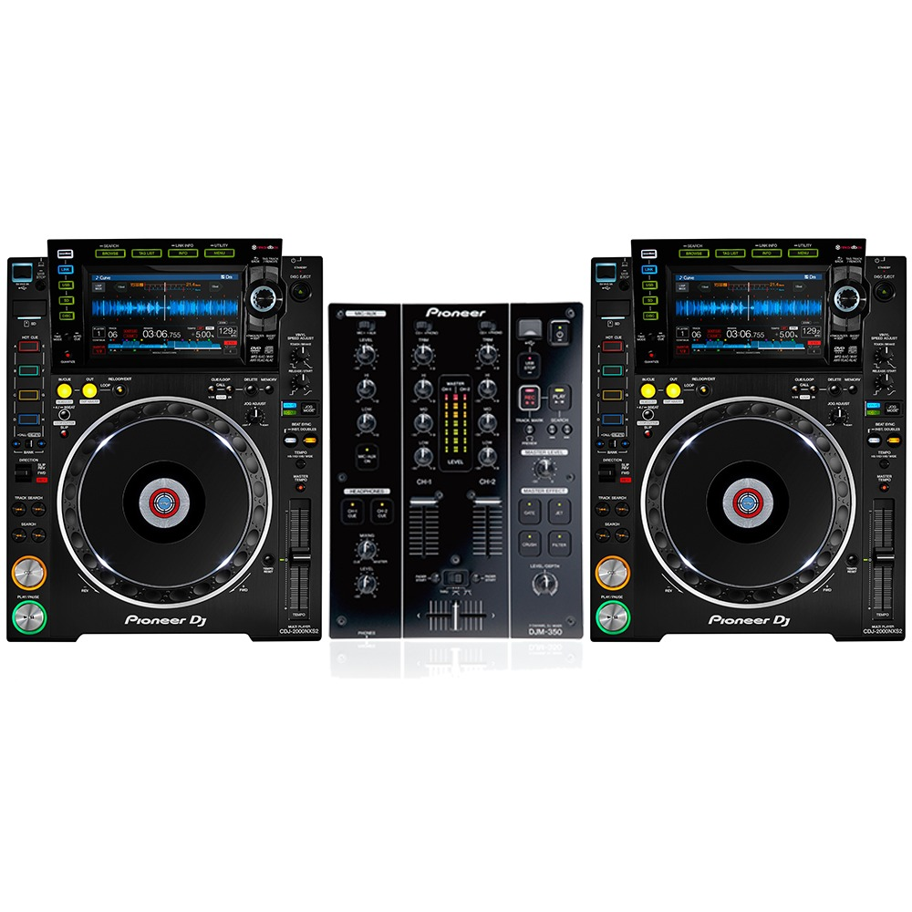 pioneer cdj 2000 nxs2 and pioneer djm350. Black Bedroom Furniture Sets. Home Design Ideas