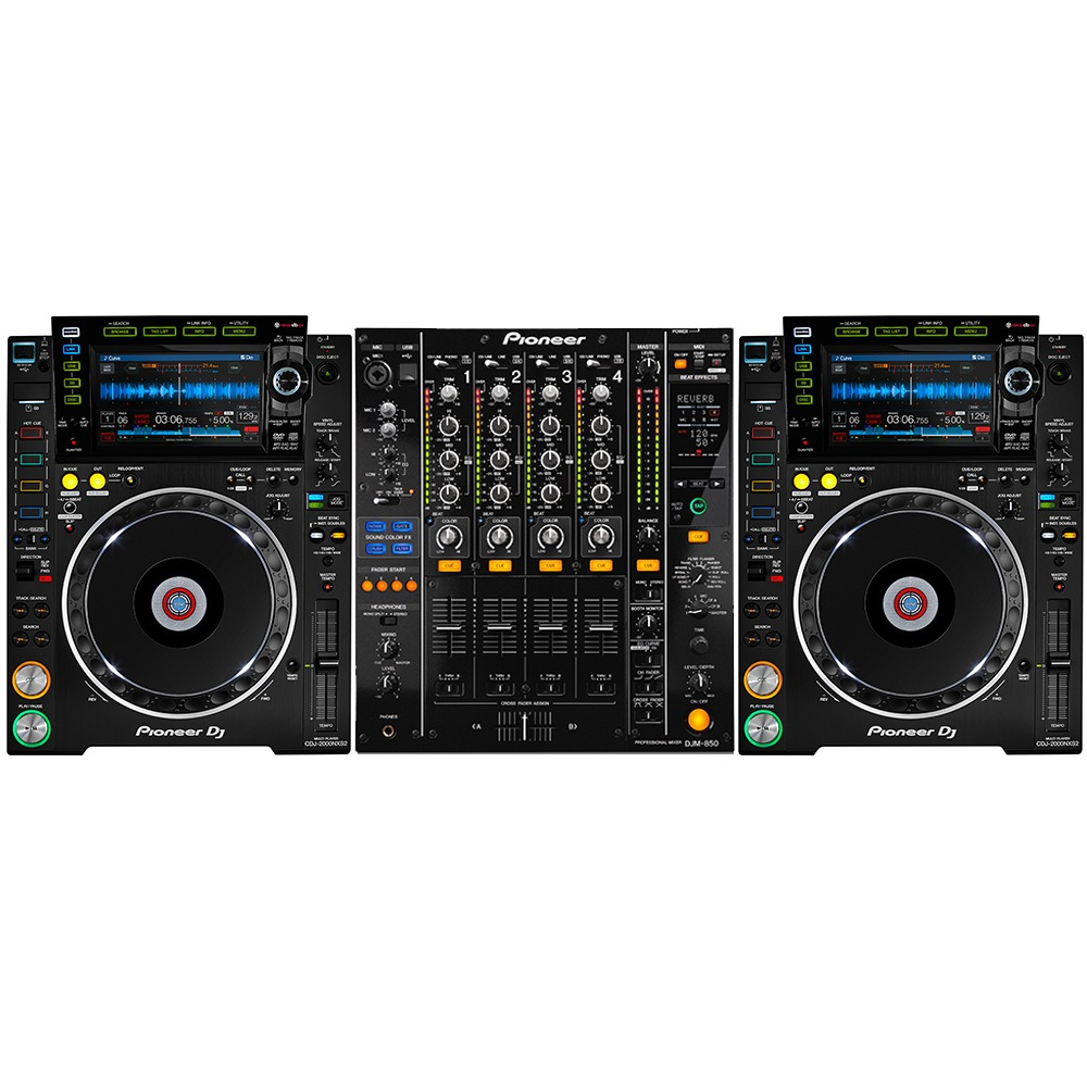 pioneer cdj 2000 nxs2 and pioneer djm850. Black Bedroom Furniture Sets. Home Design Ideas