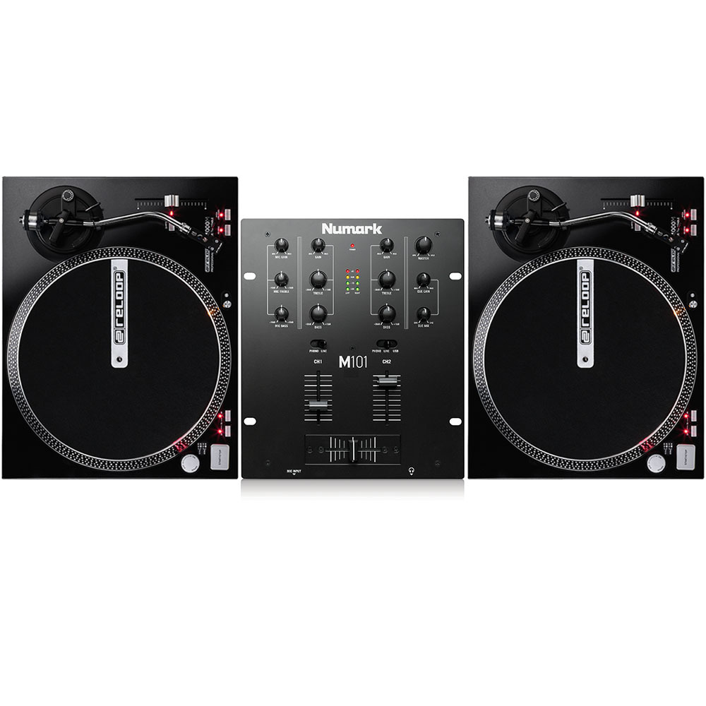 reloop rp 4000m turntables numark m101 black mixer package. Black Bedroom Furniture Sets. Home Design Ideas