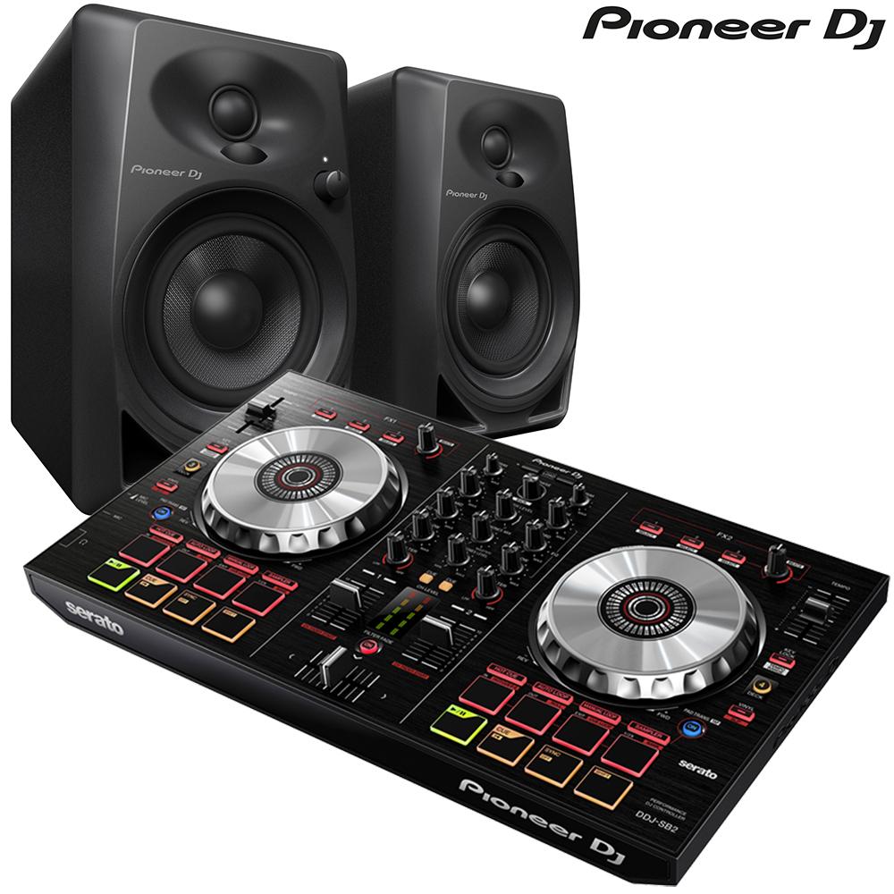pioneer ddj sb 2 pioneer dm 40 speaker package. Black Bedroom Furniture Sets. Home Design Ideas