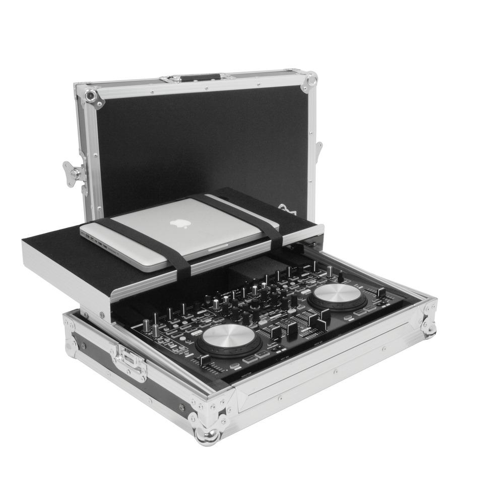 gorilla denon mc 6000 mk2 flight case including laptop. Black Bedroom Furniture Sets. Home Design Ideas