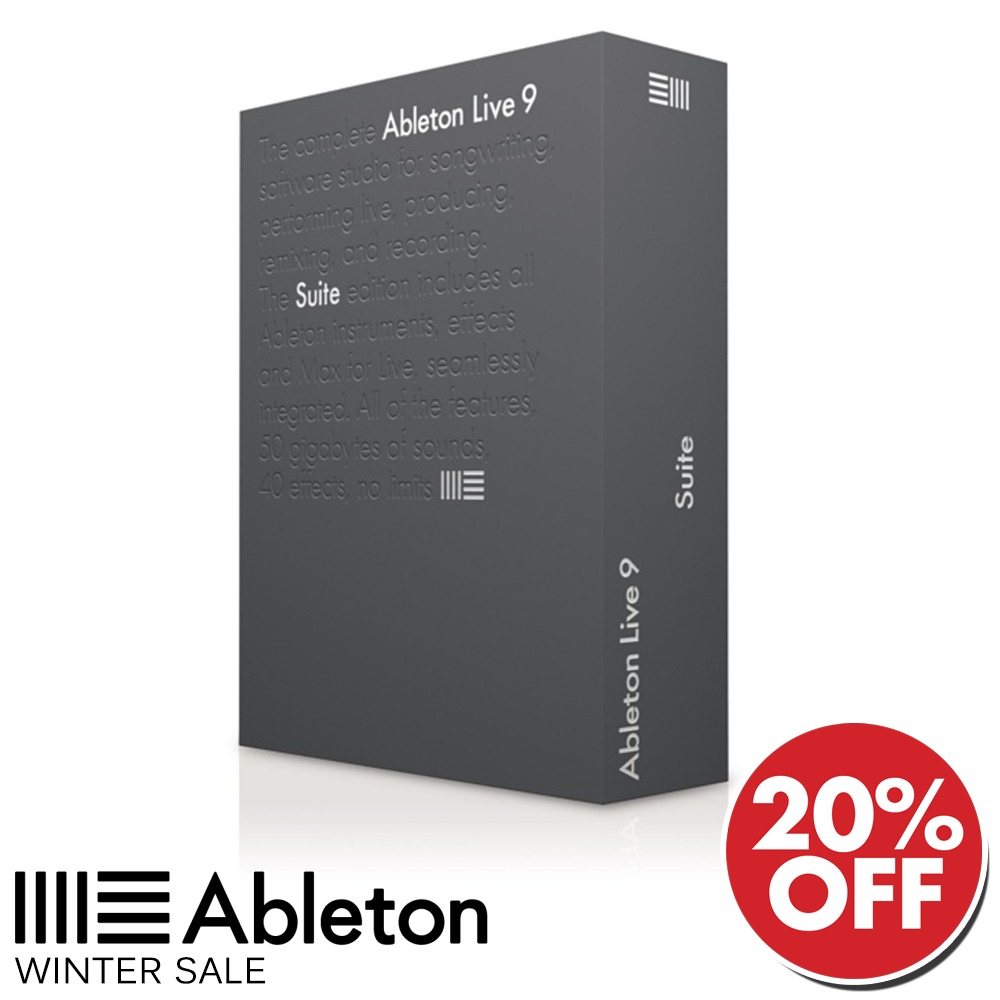 ableton live 9 suite edition upg from live lite. Black Bedroom Furniture Sets. Home Design Ideas