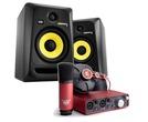KRK Rokit RP6 G3 & Focusrite Scarlett Studio Package
