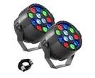 2x Stagg ECOPAR XS LED Spotlight & Cable