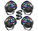 4x Stagg ECOPAR XS LED Spotlight & Cables