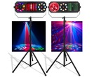 American DJ Boom Box FX1 & FX2 with Stands & Adapters