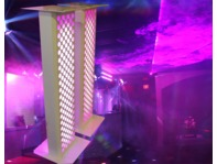 DJStandz Moving Head Podium White PAIR