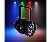 LEDJ Stage Par 64 Quad Black (18 x 8W RGBW)