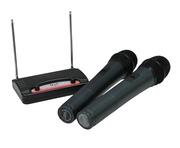 NJS VHF Twin Handheld Radio Microphone System