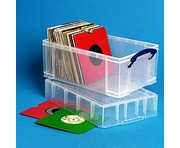 "9 Litre XL Really Useful Box Clear 100 7"" Vinyl Storage"
