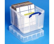 35 Litre XL Really Useful Box Clear 95 LP Vinyl Storage