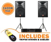 Cerwin Vega INT152 v2 Speakers & CV1800 Amp Package