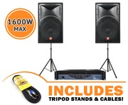 Cerwin Vega INT152 v2 Speakers & W-Audio EPX1200 Amp Package