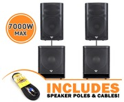 Cerwin Vega P1500X Speakers & P1800SX Subs Package