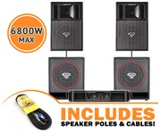 Cerwin Vega CVP1152 Speakers & CVP118 Subs & CV2800 Amp Package