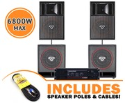 Cerwin Vega CVP1152 Speakers & CVP118 Subs & CV5000 Amp Package