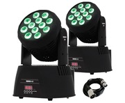 2x Equinox Fusion 150 Moving Heads Lighting Package