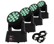 4x Equinox Fusion 150 Moving Heads Lighting Package