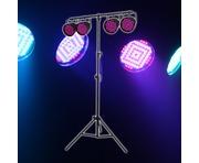 Equinox Party Par Pack - 4x LED Par 56 Cans