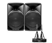 Alto TX10 Active Speakers Pair & Tripod Speaker Stands