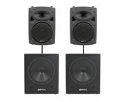 QTX Sound QR10K Speakers & QT15SA Subs PA Package