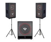 Cerwin Vega CVA28 Speakers & CVA115 Sub & Stands Package