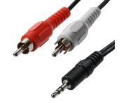 3.5mm Stereo Jack 2x RCA Phono Cable