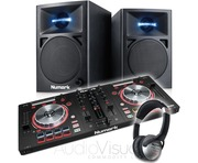 Numark Mixtrack Pro 3 with Numark N-Wave 360 Speaker Package