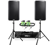 Alto TS210 Speaker Pair + Stands and XLR Cables