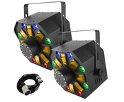 Chauvet Swarm Wash FX (Pair) with Free 3m DMX Cable