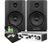 M-Audio BX5 D2 Monitors & M-Track MK2 with Pads and Cables