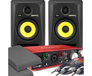 2x KRK RP5 G3 Black & Focusrite 2i2 2nd Gen with Pads and Cables