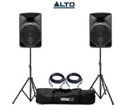 Alto TX8 Active Speakers Pair & Tripod Speaker Stands