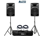 Alto TX10 Active Speakers Pair & Tripod Speaker Stands