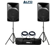 Alto TX12 Active Speakers Pair & Tripod Speaker Stands