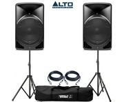 Alto TX15 Active Speakers Pair & Tripod Speaker Stands