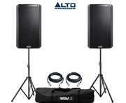 Alto TS212W Speaker Pair with Stands & Cables