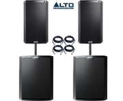 Alto 2x TS215 Speakers & 2x TS218S Package