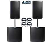 Alto 2x TS210 Speakers & 2x TS212S Package