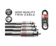 Stagg Cable 2x RCA Phono To 2x RCA Phono Twin Cable