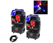 2x Equinox Gyrocopter Moving Head & Cable