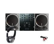 Numark NTX1000 DJ Turntables with M101 Mixer & Headphones