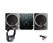 Numark NTX1000 DJ Turntables with M2 Mixer & Headphones