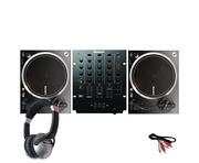 Numark NTX1000 DJ Turntables with M4 Mixer & Headphones
